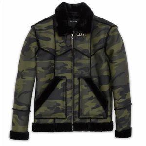 Men's camo shearling jackets